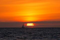 Sailing by the morning sun (Kirkleyjohn) Tags: sky sun clouds sunrise suffolk skies sailing northsea lowestoft