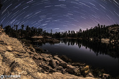 Lyrid Star Trail over Rose Canyon Lake (Sean Parker Photography) Tags: lake tucson az astrophotography astronomy meteor startrails mtlemmon startrail meteorshower lyrid