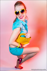Cheerful coquette (Dmitry Mordolff) Tags: girls portrait people woman cute beautiful smile face sunglasses smiling fashion closeup laughing fun person one model glamour women funny looking view joy happiness human blond attractive only casual females emotional cheerful adults carefree 20s caucasian lifestyles 2025 ecstatic positivity expressing