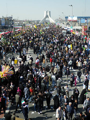 Thousands Demonstrators (Kombizz) Tags: people iran crowd lawn tehran demonstrators islamicarchitecture azadi thousands freedomtower 1391 azaditower 7880 azadisquare hosseinamanat sassanid tehranprovince  kombizz 22bahman  22bahman1391 meydeaeazadi meydaneshahyad  shahydtower thousandsdemonstrators anniversaryoftheislamicrevolution