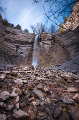 Battle Creek Falls (Adam's Attempt (at a good photo)) Tags: longexposure trees motion mountains water clouds creek utah spring nikon rocks stream hiking hike waterfalls springtime utahcounty d90 lr4 nd10 battlecreekfalls pleasantgroveutah
