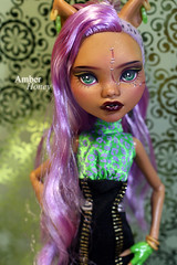 Finished (Amber-Honey) Tags: monster amber high mod wolf doll ooak honey custom rule mattel ghouls repaint clawdeen
