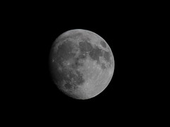 WAXING GIBBOUS (michael.jh) Tags: uk sky moon nature night birmingham waxinggibbous canon7d michaeljh