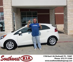 Southwest KIA of Rockwall would like to wish a Happy Anniversary to Steve Peterson on your 2013 Kia Rio (Southwest Kia Rockwall) Tags: new southwest car sedan truck wagon happy dallas texas tx used vehicles mesquite bday dfw kia van suv coupe rockwall dealership hatchback dealer customers minvan 4dr metroplex shouts 2dr preowned