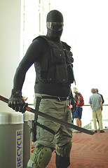 Denver Comic Con 2013   01 (Randomographer) Tags: black photo costume eyes comic cosplay snake character joe denver hero sword bodysuit con gi counterculture hasbro subculture 2013