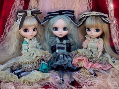 Blue, Monochrome and Pink (Bell) Tags: pullip romantic alice blue monochrome pink emilly helena sofia rosemberg premium doll