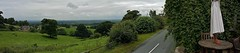 Panorama over Cheshire from Burwardsley (Eddie Crutchley) Tags: trees england panorama landscape countryside europe cheshire outdoor cloudyskies