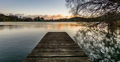 Little Lake (lizcaldwell72) Tags: water trees sky hawkesbay newzealand sunrise laketutira light