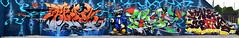 Brok  Wuze  T-Kid170  Kson (HBA_JIJO) Tags: streetart urban graffiti vitry vitrysurseine art france artist brok hbajijo wall mur painting letters aerosol peinture lettrage lettres lettring writer murale paris94 spray panorama