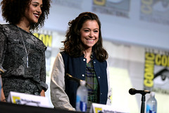 Tatiana Maslany (Gage Skidmore) Tags: connie nielsen ming na wen morena baccarin melissa benoist nathalie emmanuel tatiana maslany lucy lawless san diego comic con international california convention center ew entertainment weekly women who kick ass