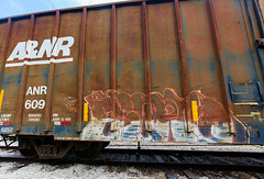 (o texano) Tags: lufkin texas graffiti trains freights bench benching erupto a2m adikts d30 colussusofroads moniker