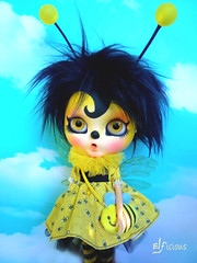 Fuzzy the Bee comes with me to BCEU (FA)