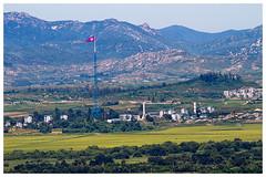 DMZ Zone (border North & South Korea)View of Kijong-dong. City in North Korea (peterszustka) Tags: kijongdong northkorea dmz korea observatory dora flag canon eos7d llens zoomlens 7d 70300 70300mm