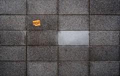 eponymous (dizbin) Tags: art abstract architecture advert candid color city colour dizbin england em10 hampshire impression uk line monochrome minimal minimum olympus omd photo photograph photography street streetphotography urban wall decal friday black white brick 37