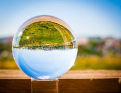 _MG_0255 (AdamFejes) Tags: glass globe glassglobe pointofview light sun summer blackandwhite bw colour city budapest danube sunset