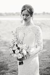 Bride B/W (Nick - n2photography) Tags: select canon5sdr sigma50mm14art wedding nebraska outdoor summer canon bride bridal veil portrait dress white flowers boquet bokeh