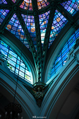 Angels vitral (_Leuqar_) Tags: church vitral vidrieras color travel madrid spain architecture arquitectura building angel colorfoul vitralls