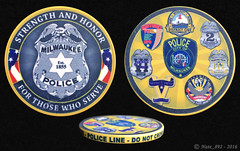 """Milwaukee Police """"Poker"""" Chip (Nate_892) Tags: milwaukee police mpd wi wisconsin poker chip challenge coin district 1 2 3 4 5 6 8"""
