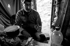 Morning Coffee (rom_guerin) Tags: mountain refuge alpinism alpinisme nikon blackandwhite alps alpes marinet lake breakfast coffee morning wake
