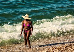 What a beautiful day (Seahorse-Cologne) Tags: tretat normandie france frankreich summer beach mer atlantik plage lesoir sunset soire surfing surf september