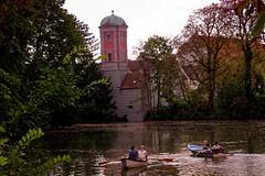 Kahnfahrt Augsburg (AD2115) Tags: fnffingerlesturm kahnfahrt schwedenstiege hessing hessingburg wasserturm wasser stadt city fugger