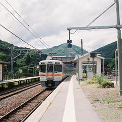 R1-49 -  (redefined0307) Tags:      zenzabronicas2 zenzabronica mediumformat fujifilmpro400h nagano narai japan rural train