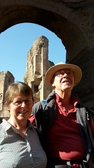 Catherine and Dad at the Baths of Caracalla (markhorrell) Tags: rome romanantiquities baths caracalla