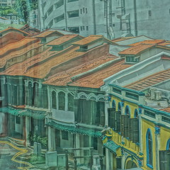 Distorted Emerald Hill (Lukim) Tags: singapore emerald hill distorted hdr shophouse orchard
