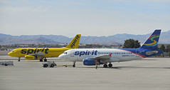 Spirit Airlines /KLAS (kenjet) Tags: airbus a319 a319100 a319132 eiecx n503nk windjet n515nk nk spirit spiritair spiritairlines lv vegas lasvegas nevada airport klas mccarran departing departure pushback livery yellow plane jet airline airliner flugzeug aviation lasvegasmccarraninternationalairport aircraft ramp