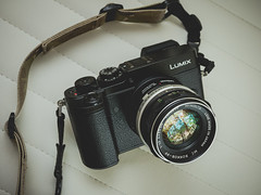 Modern vintage (Vincent F Tsai) Tags: camera cameraporn gear shot lens panasonic lumixg7 lumixgx8 leicadgsummilux25mmf14 minolta speedbooster metabones microfourthirds retro