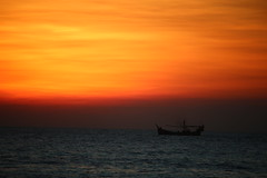 Colors of the sky (saikattanu) Tags: sunset color golden hour coxs bazar landscape sea longest beach bangladesh outdoor sky vehicle boat