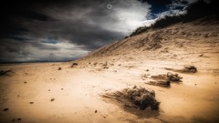 Sand Blasted (Augmented Reality Images (Getty Contributor)) Tags: beach canon clouds holidays landscape leefilters lossiemouth morayshire sand sanddunes scotland storm summer windswept windy