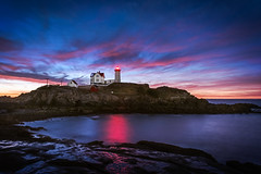 First light at Nubble Lighthouse (Simmie | Reagor) Tags: capeneddick connecticutphotographer landscapephotographer lighthouse maine naturephotographer newengland nubblelighthouse nubblepoint photographicart september sunrise unitedstates digital york us