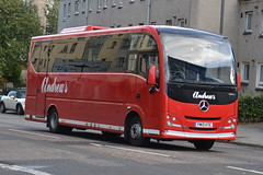 Andrew's Mercedes FM15KTE - Edinburgh (dwb transport photos) Tags: andrews mercedesbenz plaxton cheetah coach fm15kte edinburgh
