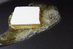 Hot surface (Quik Snapshot) Tags: sony slta58 a58 alpha autofocus gourmet food hot butter macromondays macro closeup sal30m28 11ratio pan melting bubbles hotsurface handlewithcare hmm