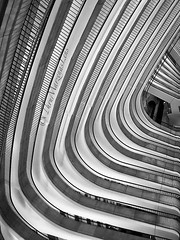 Patterns and lines (www.ThruMarzenasLens.com) Tags: bw lines patterns architecture building inside up blackandwhite monochrome abstract atlanta hotel floors