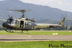 73+63 / German Army / UH-1 Huey (Peter Reoch Photography) Tags: german army bundeswehr heer germany armed forces bell uh1 huey iroquois classic helicopter austrian air force airpower16 airshow show display static flying military aviation austria mountains taxiway hover fly