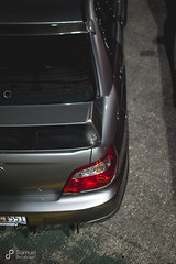 (Xeyph) Tags: car auto tuner going gold 3 wheel wheels porsche subaru sti wrx meet tires