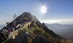 get in line (Tin-Tin Azure) Tags: girnar girinagar revatak pravata junagadh gujarat india temple mountain sacred pilgrimage hill altitude 3666 feet 3315 climb 250bce mount 1030 metres meters