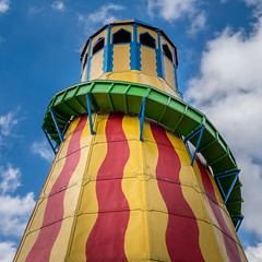 Ride the Slide (Martyn.A.Smith) Tags: colour clouds slide tower bluesky helterskelter fairground outdoors fujifilm xti blackcountrymuseum westmidlands englanduk