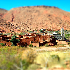 On the way (Bjrn Giesenbauer) Tags: village morocco faketiltshift