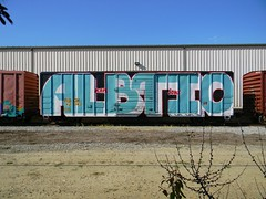 ALB (Sk8hamburger) Tags: railroad art car train painting graffiti paint top joke tag bottom rr whole boxcar alb graff piece tagging freight tio wholecar endtoend kops e2e paint toptobottom spray