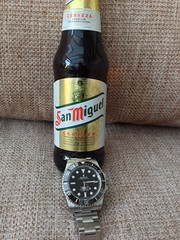 Sub and cerveza (eye-of-horus) Tags: rolex submariner