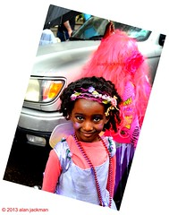 Mardi Gras Flower Girl, Foubourg Marigny Section, New Orleans (alan jackman) Tags: pink beads louisiana neworleans bead flowergirl mardigras fattuesday neworleanslouisiana d7000 nikond7000 jackmanonjazz alanjackman foubourgmarigny