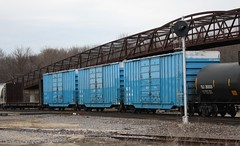 NOKL buffs (quiet-silence) Tags: railroad blue art train graffiti clean railcar buff boxcar graff freight boxcars buffed fr8 nokl