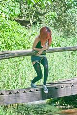 Little Girl (Vanderlei Gomes Fotografia :-]) Tags: brazil woman green nature girl sex brasil model dress natureza mulher modelo redhead teen garota paulo menina so baidu ruiva nucleo engordador magrinha ncleo
