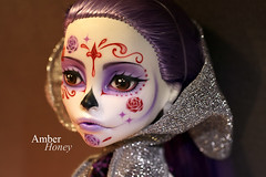 Details (Amber-Honey) Tags: monster skull amber high mod doll ooak sugar honey spectra custom catrina mattel calavera repaint vondergeist