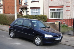 Violet's Car (Moving Britain) Tags: peugeot106 suttoninashfield ov52exj