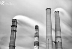 Smoke Stacks (Dennis Cluth) Tags: plant art monochrome electric nikon long exposure d800 2470mm