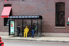 HazMat (C_Dubyaa) Tags: chicago bus suit stop hazardous materials hazmat dearborn hubbard chicagoist